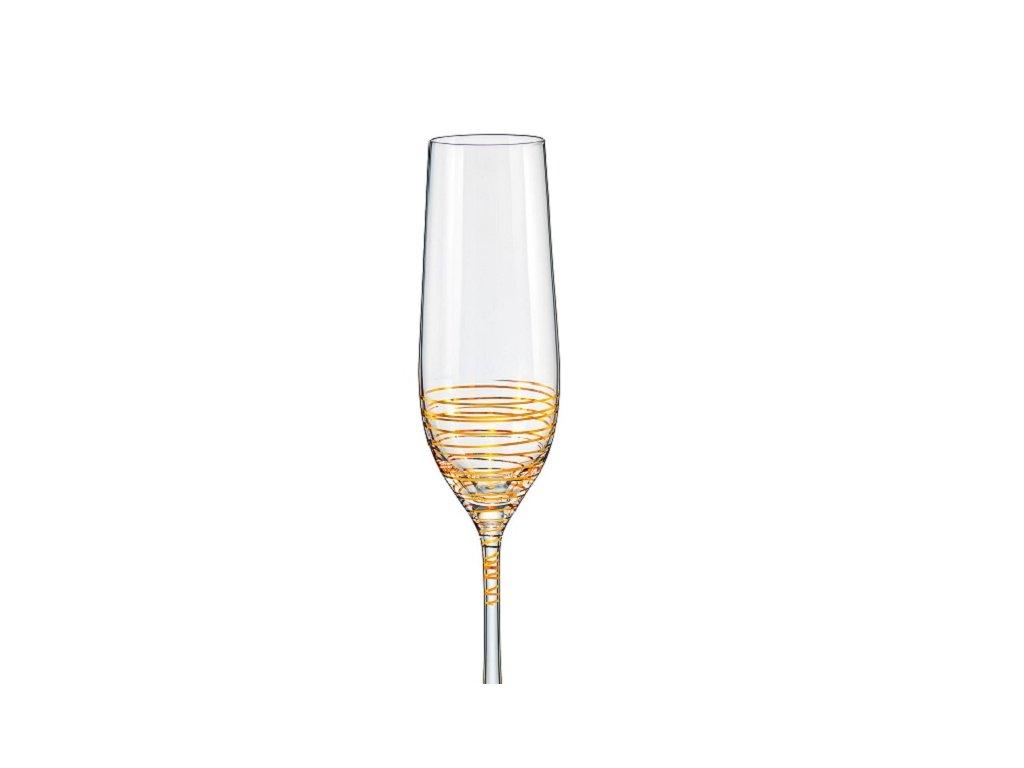 crystalex dekorované sklenice na sekt viola spiral 190 ml eshop