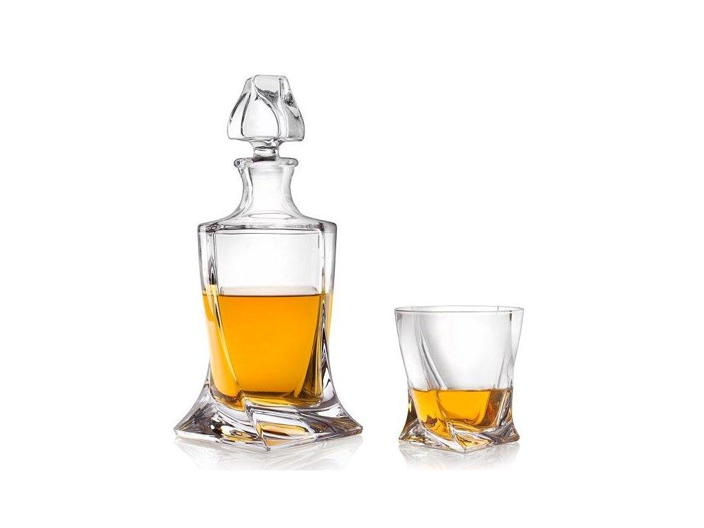 Crystalite Bohemia Quadro whisky set