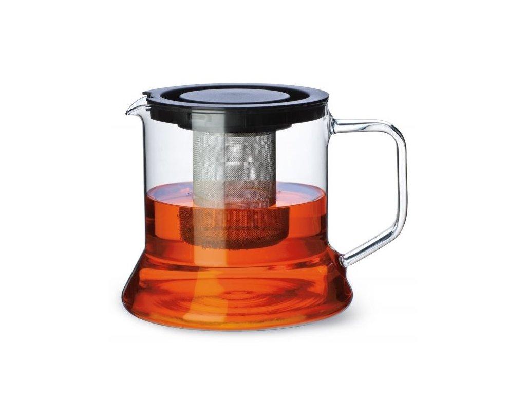 skleněná konvice na čaj
