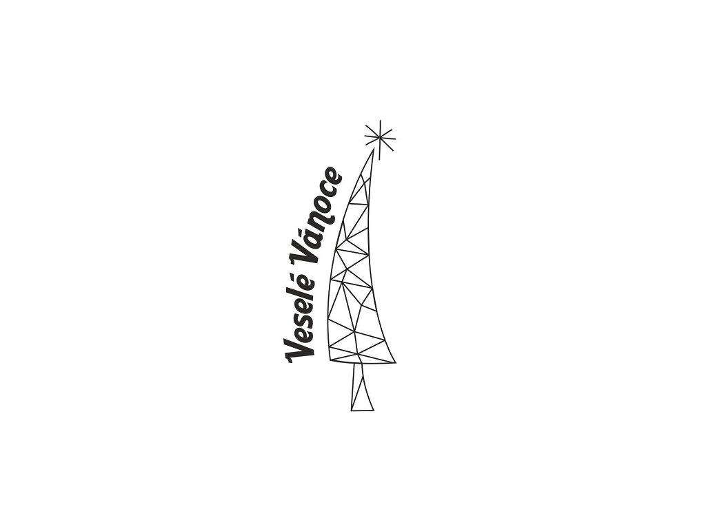 Pískování motivu vánočního stromu s přáním