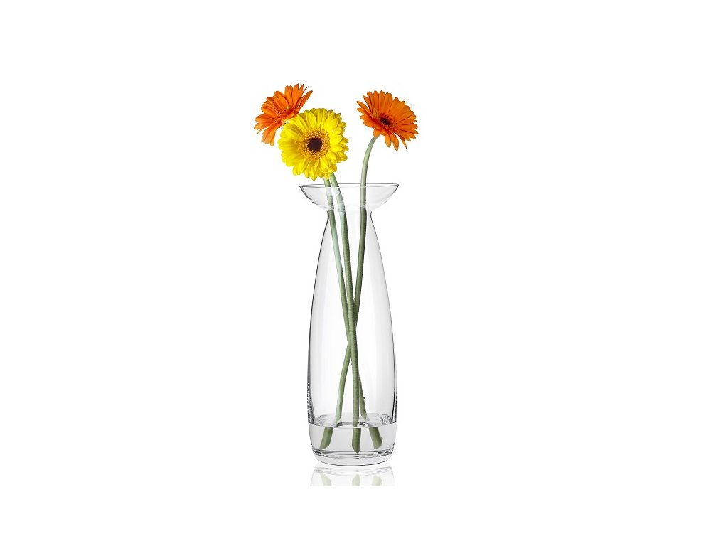 rona skleněná váza 30 cm
