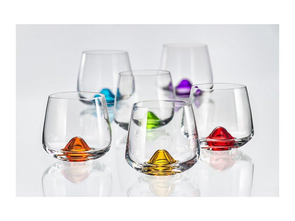 Crystalex Sklenice ISLANDS barevné 310 ml