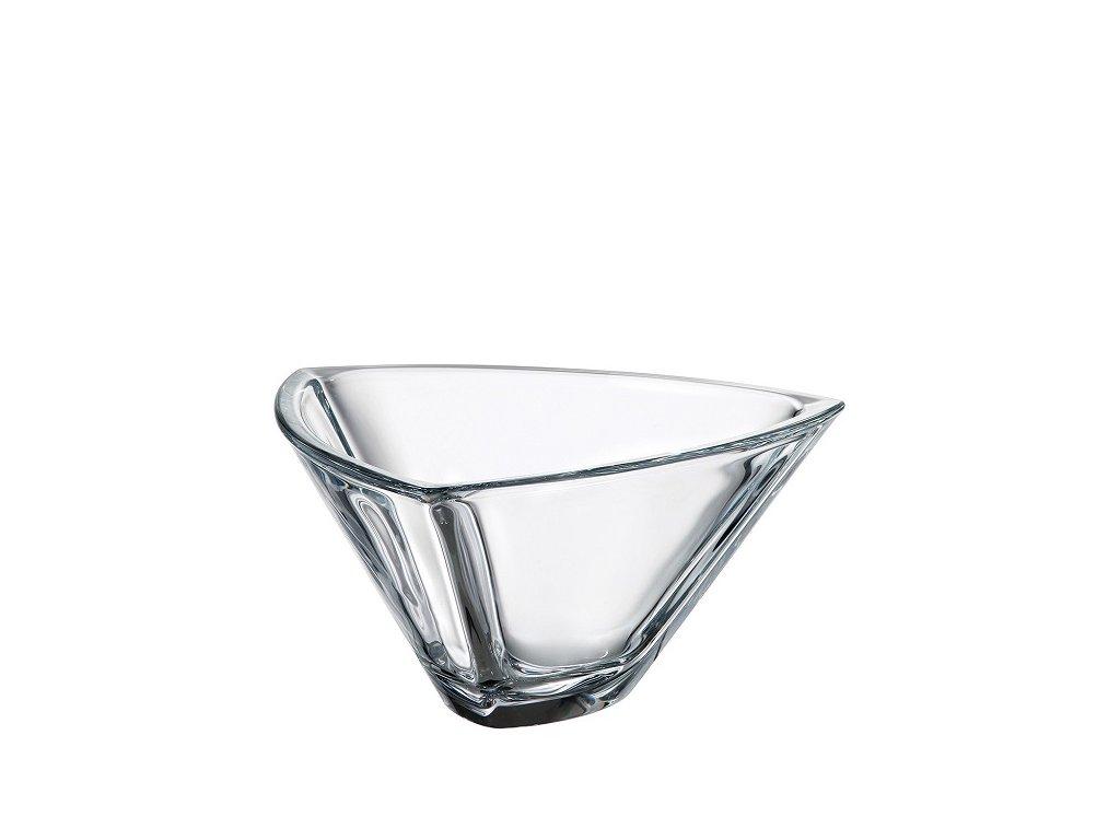 Crystalite Bohemia skleněná mísa Triangle 245 mm