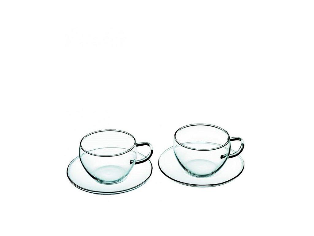 Simax Skleněný šálek Eva s podšálkem 250 ml, 1 ks
