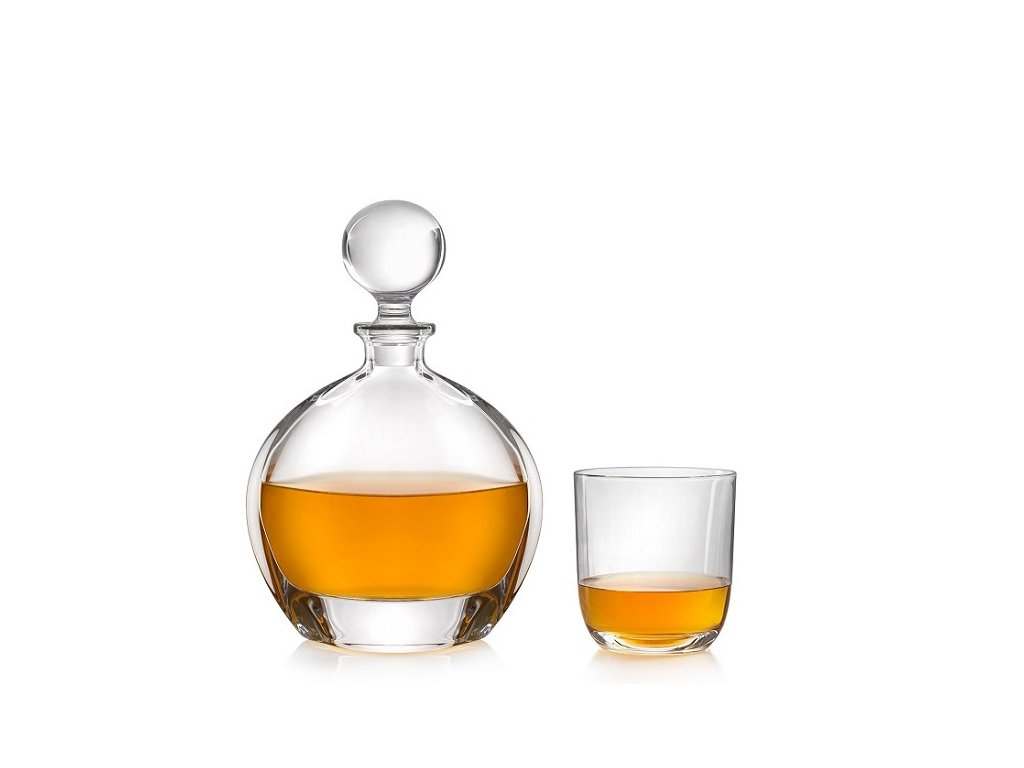 Crystalite Bohemia Orbit whisky set (1+6)