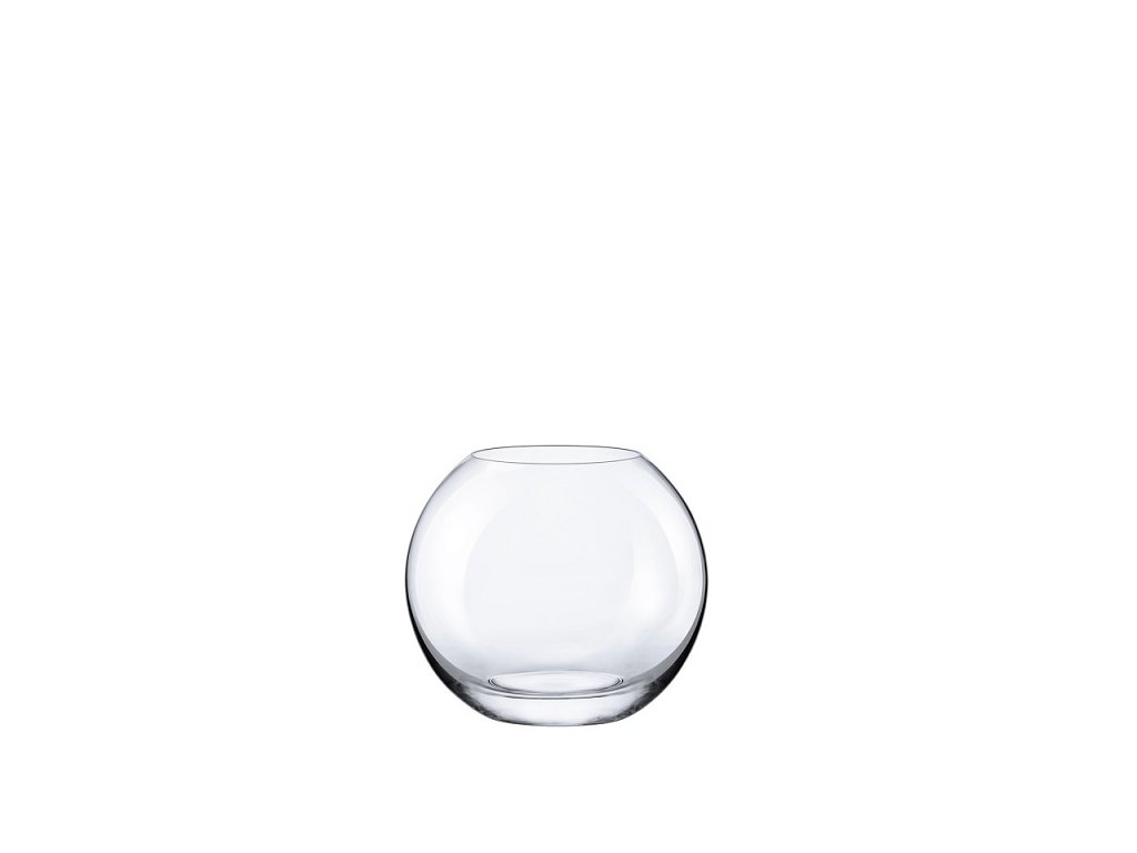Rona skleněná váza kulatá malá 15 cm