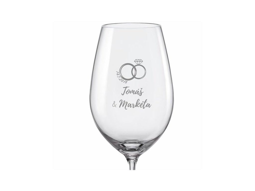 svatební skleničky prstýnek s drahokamem viola 350 v