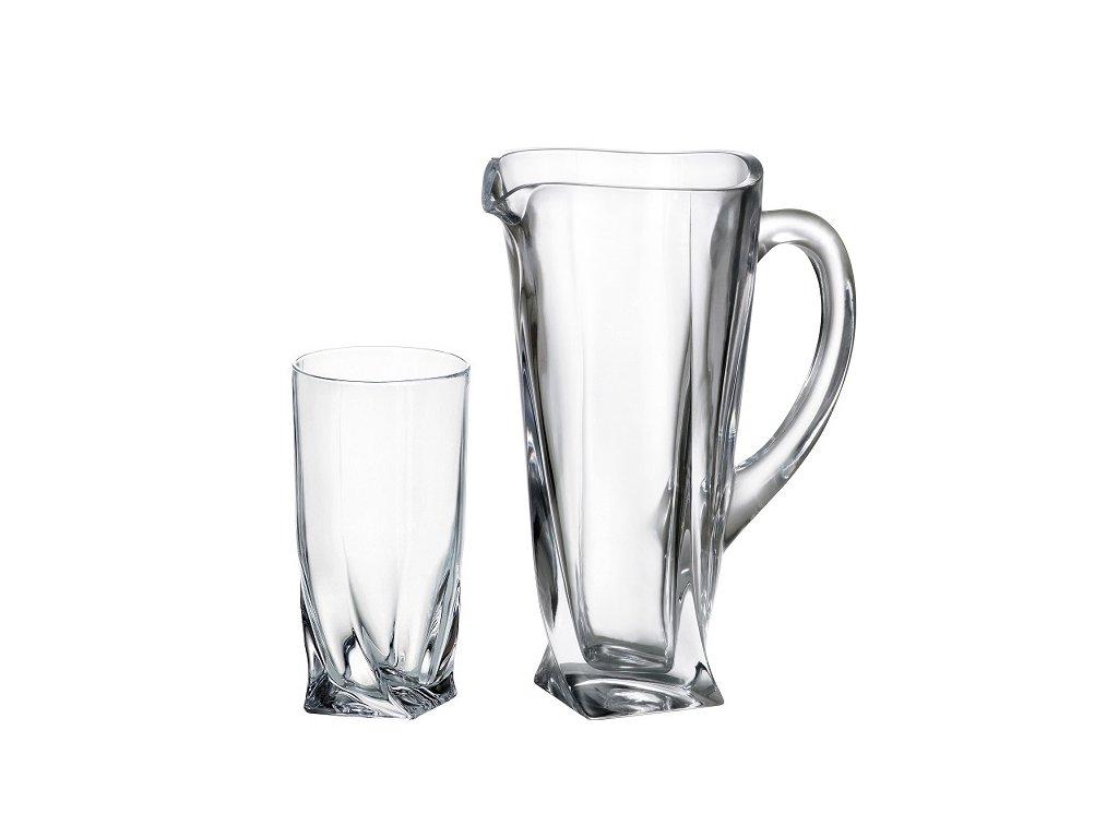 Quadro set džbán a sklenice Crystalite Bohemia