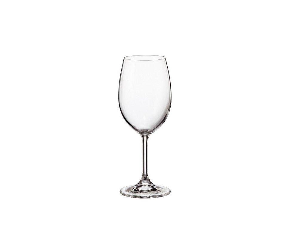 crystalite bohemia sklenice na víno sylvia 350 ml