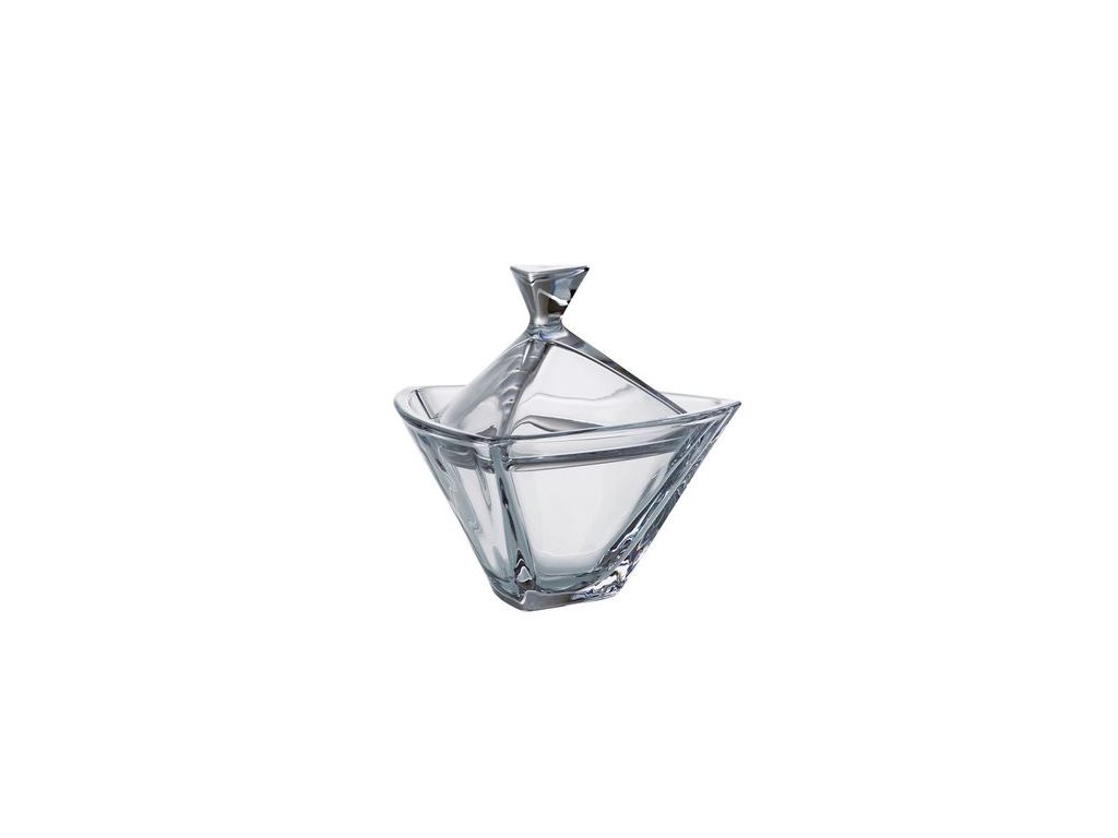 Crystalite Bohemia Skleněná dóza TRIANGLE 180 mm