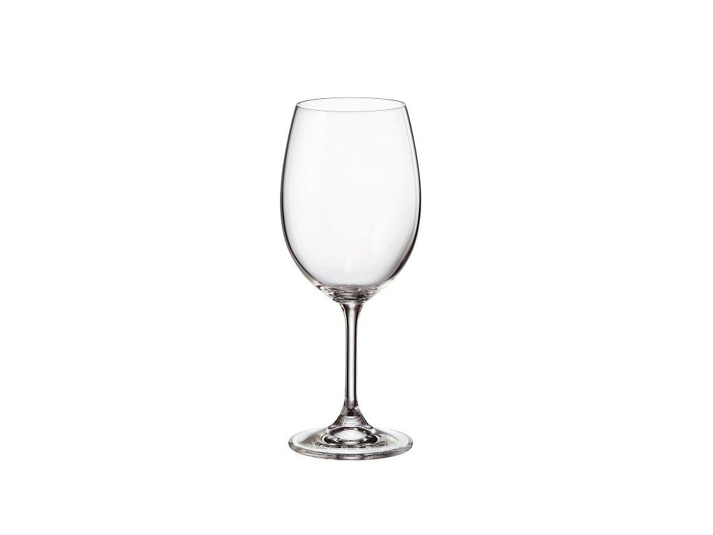 crystalite bohemia sklenice na víno sylvia 450 ml