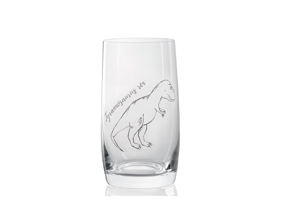 sklenička s dinosaurem Tyrannosaurus rex