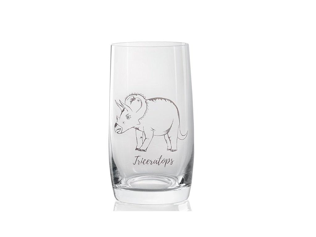 sklenička s dinosaurem Triceratops