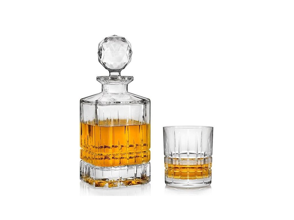 crystal bohemia whisky set dover