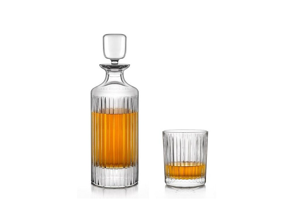 crystal bohemia WHISKY SET skyline