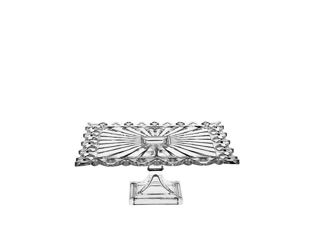 crystal bohemia podnos na nožce 320 mm