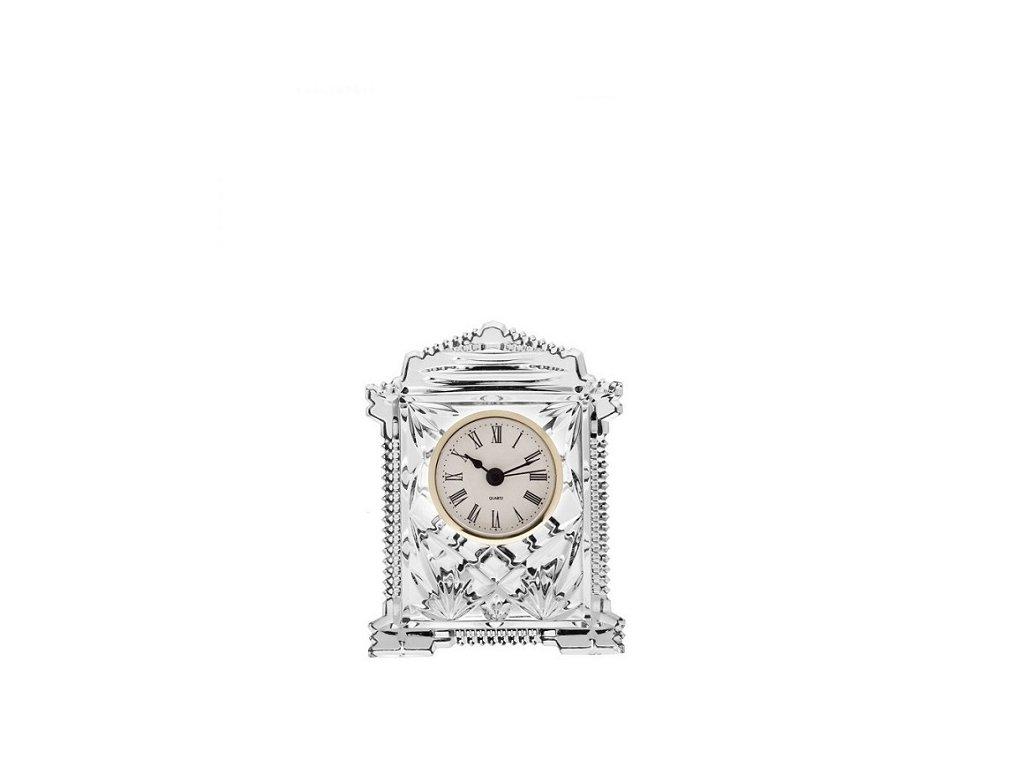 Crystal Bohemia skleněné hodiny zlaté 160 mm