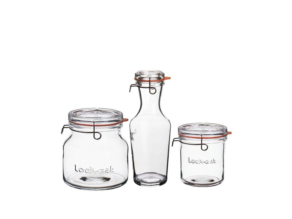 Luigi Bormioli LOCK-EAT souprava zavařovacích sklenic, 3 ks