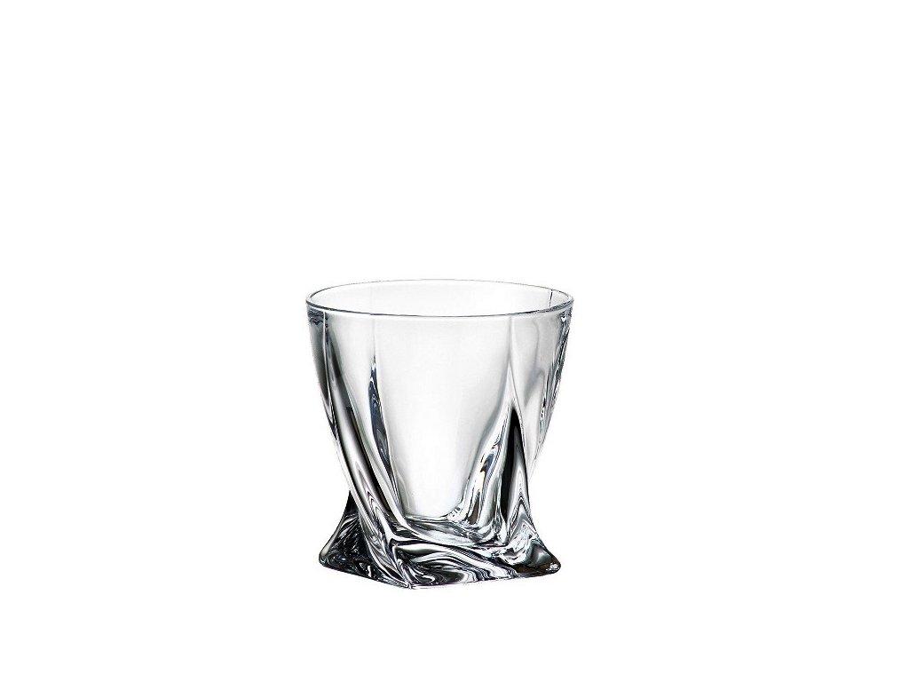 crystalite bohemia sklenice na whisky quadro 340 ml