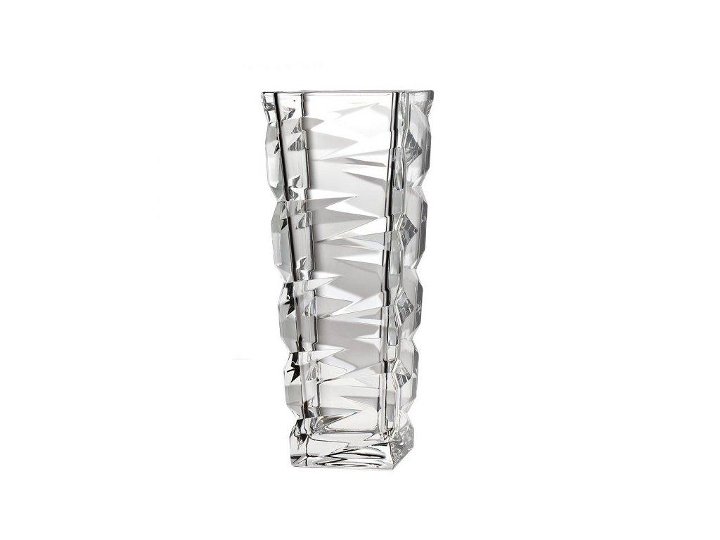 crystal bohemia skleněná váza zig zag 330 mm