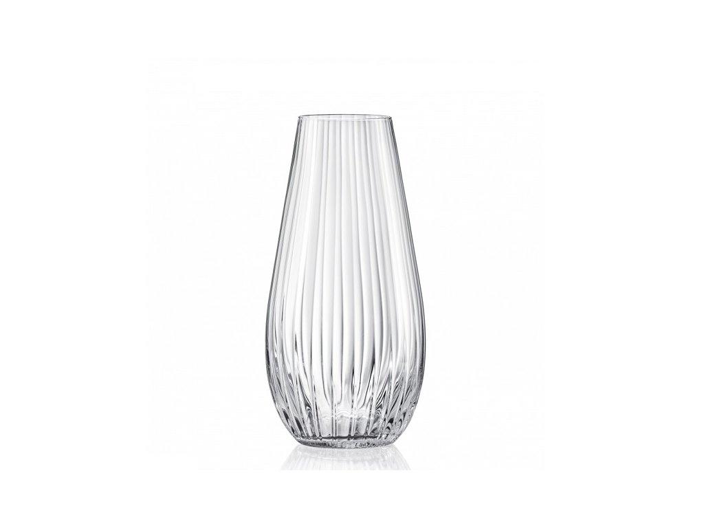 Crystalex skleněná váza na květiny Waterfall 305 mm