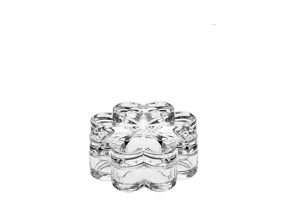 skleněná dóza čtyřlístek crystal bohemia