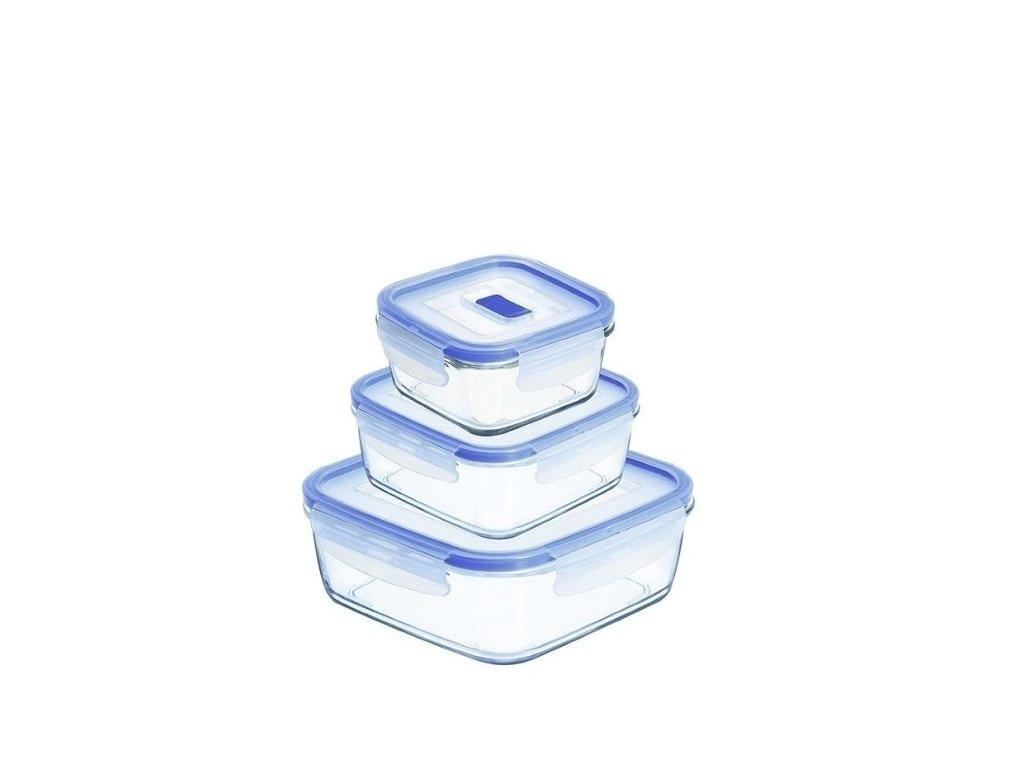 Pure box active sada čtvercových dóz na potraviny