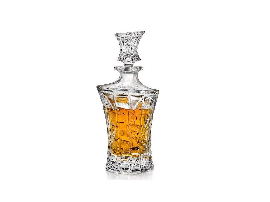 crystal bohemia karafa na whisky patriot 0,7 l