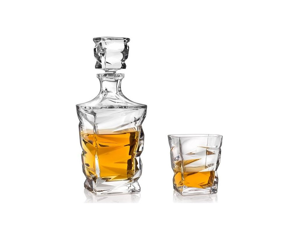 Crystal Bohemia Zig zag set na whisky