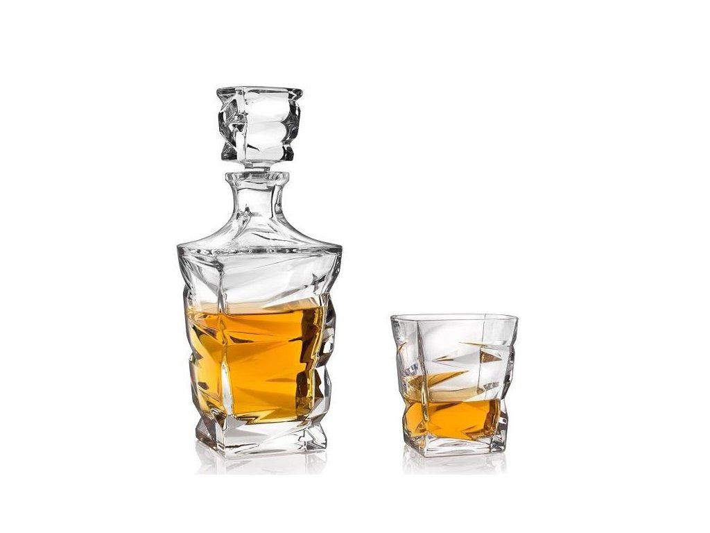 crystal bohemia zig zag whisky set