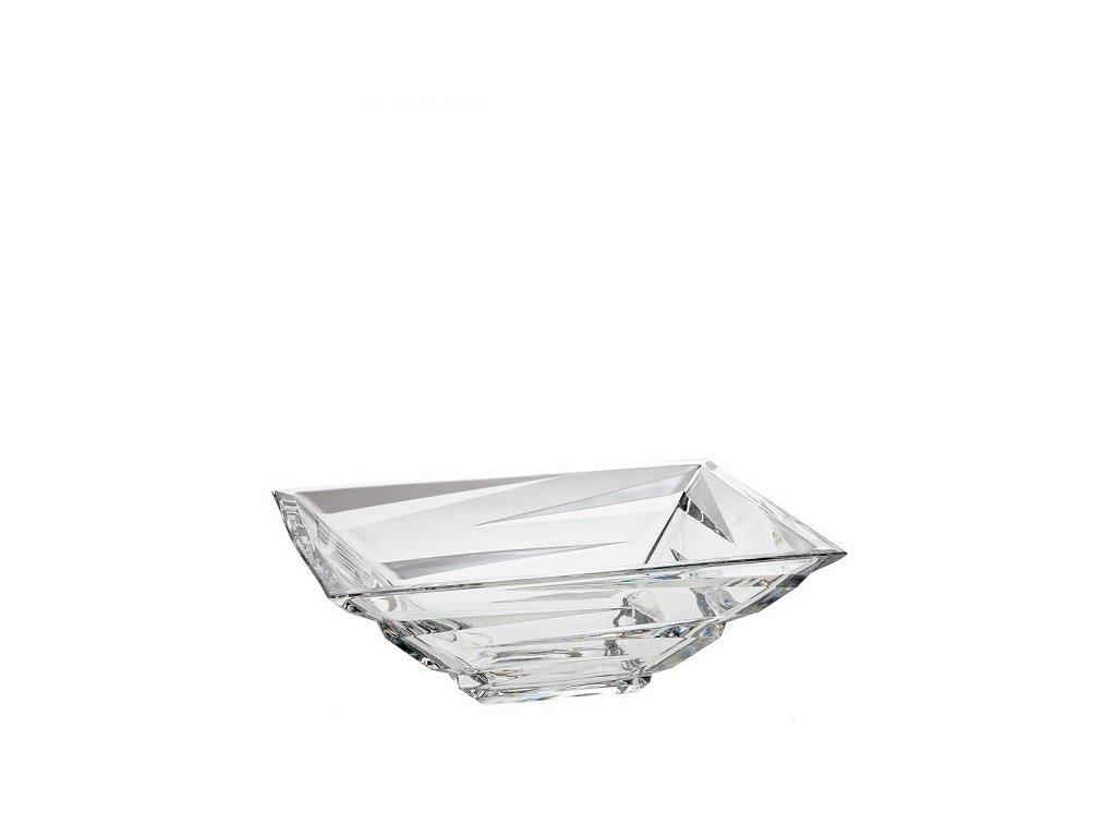 crystal bohemia skleněná mísa zig zag 290 mm