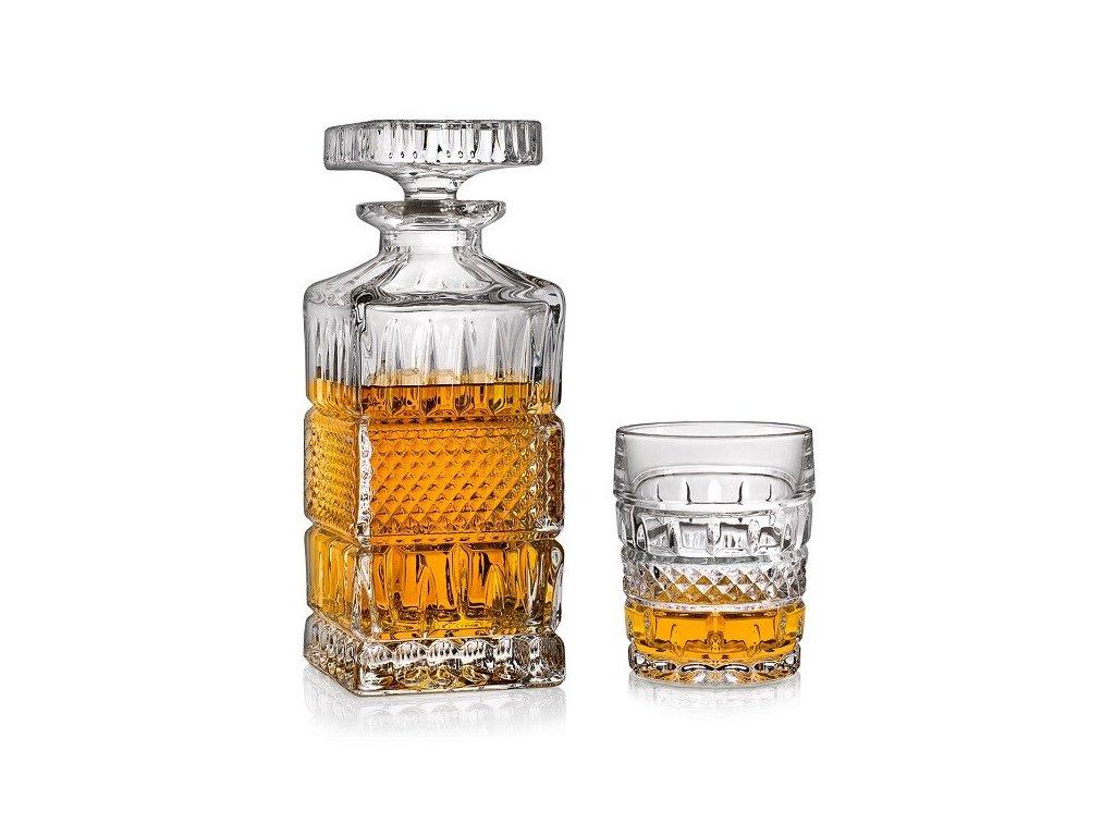 whisky set crystal bohemia brittany