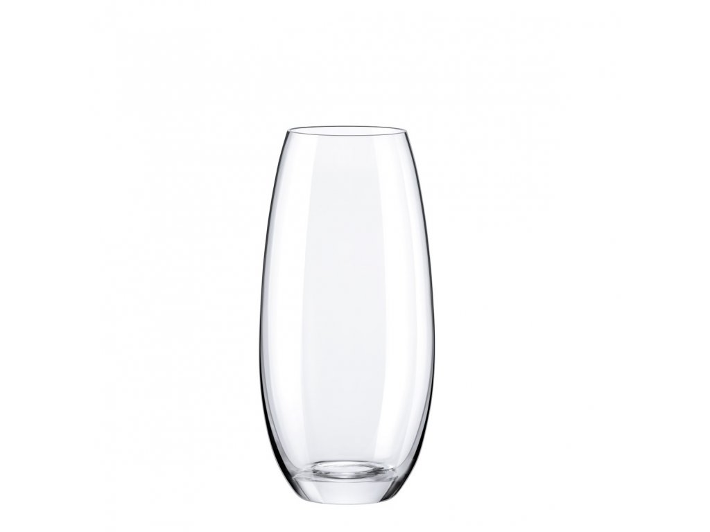 Rona skleněná váza baculatá 250 ml