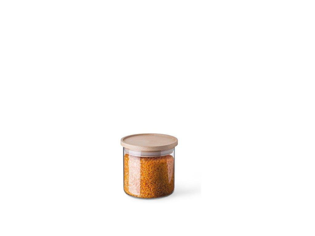 Simax dóza na potraviny s dřevěným víčkem 0,5 l