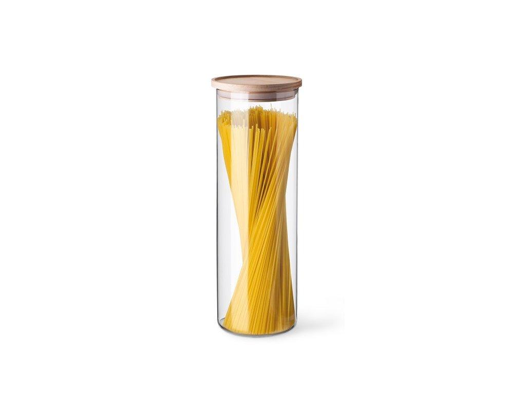 Simax dóza na potraviny s dřevěným víčkem 1,8 l