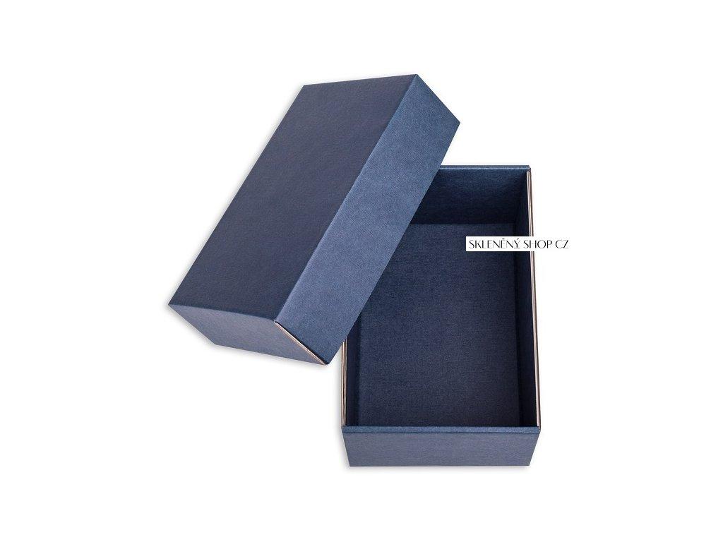 modrá¨dárková krabička na půllitr na pivo