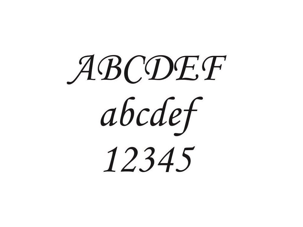 Monotype piskování textu