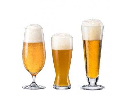 sklenice na pivo na stopce rona