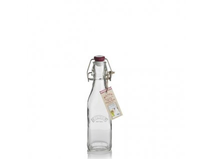 Skleněná láhev hranatá Kilner s klipem 0,25 l