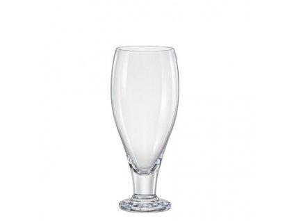 crystalex sklenice na pivo na stopce 380 ml