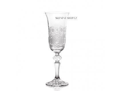 Aurum Crystal Broušená sklenice na sekt LAURA 150 ml