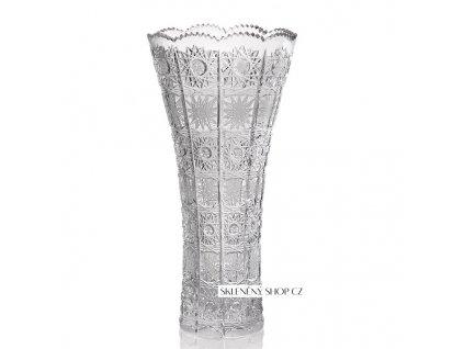 Aurum Crystal broušená váza LORETA 305 mm
