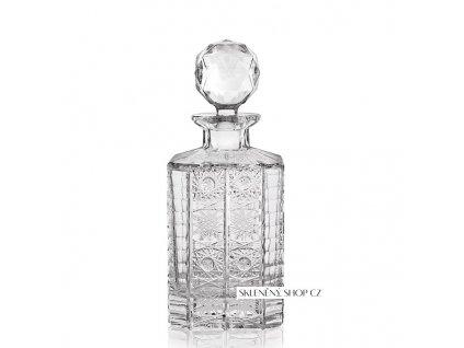 Aurum Crystal Broušená karafa na whisky 0,8 l