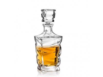 crystal bohemia karafa na whisky Zig zag 0,7 l
