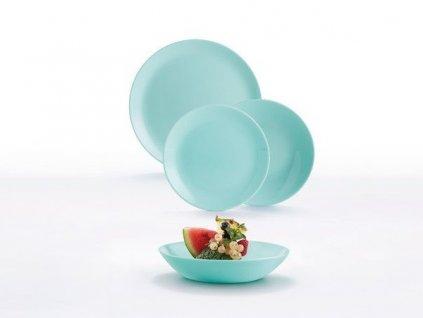Luminarc DIWALI Light Turquoise jídelní souprava 18 ks