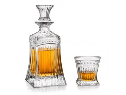 whisky set crystal bohemia imperial