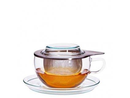 šálek se sítkem tea time trendglas jena