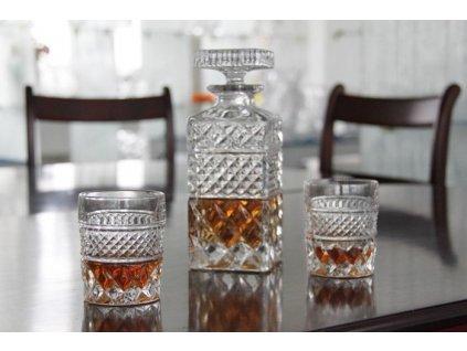 whisky set Madison crystal bohemia mensi