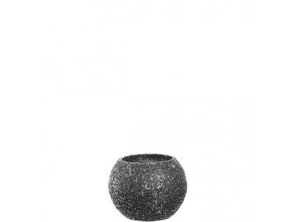 Leonardo perlovy svicen hnedy 8 cm