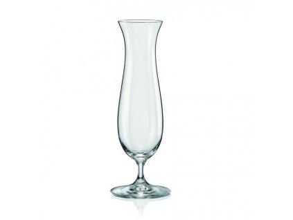 Crystalex Skleněná váza na nožce 230 mm